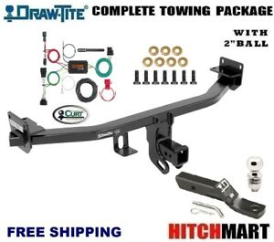 Class 3 Trailer Hitch Package W 2 Ball For 2017 2018 Kia Sportage Ex Lx 76074