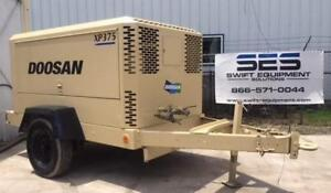 375 Cfm 150 Psi Doosan Xp375wcu Portable Diesel Air Compressor S n 406039uksd44