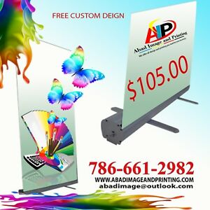 10pcs Retractable Banner Stand 33 W X 79 H Free Custom Made Design