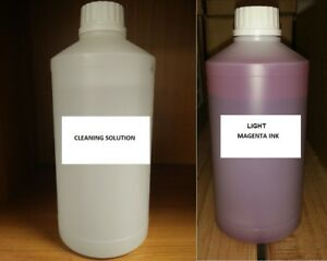 Light Magenta Sublimation Ink Sublimation Cleaning Solution For Epson Mutoh