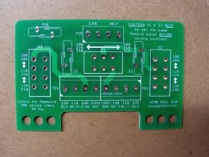 Diy Pcb Voltage Selector Input Pcb For Multi voltage Transformer Primaries