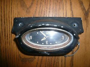 1957 Oldsmobile 88 98 Dash Clock Dash Housing Black