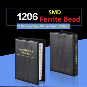 1206 Smd smt Ferrite Bead Samples Book Assorted Kit Component 25 Values