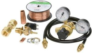 Lincoln Mig Conversion Kit 1 4 In 20 Psi Regulator Gauge 20 Psi Flux cored