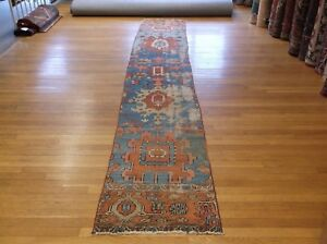 2 2 X 11 6 Decorative Antique Serapi Narrow Runner Rug