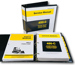 Service Parts Manual Set For John Deere 450c Crawler Loader