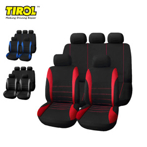 9 Pcs Universal Car Seat Covers Front Rear Head Rests Full Set Auto Seat Cover