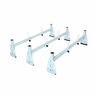 Adjustable 3 Bar Van Roof Ladder Rack Cargo Carrier Universal For Ford Chevy Gmc