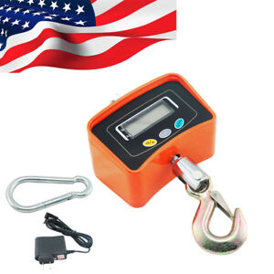 Portable Crane Scale 500kg 1100lbs Industrial Hook Hanging Weight Digital Lcd Ce