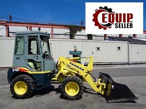 Yanmar V4 5 Wheel Loader Skid Steer Enclosed Cab 4x4 Diesel