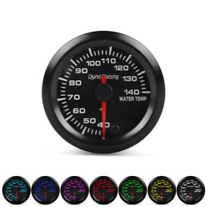 2 52mm Universal Car Pointer 7 Color Led Water Temp Temperature Gauge Meter