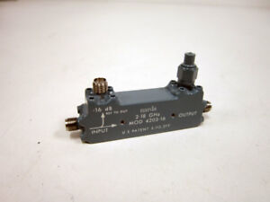 Narda 4203 16 2 18 Ghz Directional Coupler Sma Connections