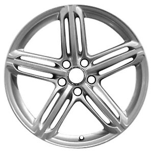 58843 Reconditioned 19x9 Alloy Wheel Rim Flat Light Silver Full Face Painted