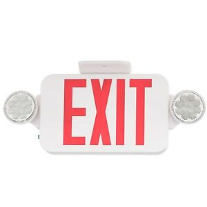 Progress Lighting Thermoplastic Led Emergency exit Sign With Red Letters