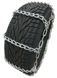 Snow Chains 12 16 5 12 16 5 Extra Heavy Duty Mud Tire Chains Set Of 2