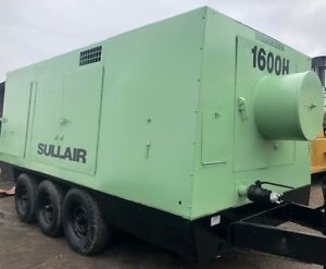 1600 Cfm 125 Psi Sullair 1600hdtqcat Portable Air Compressor S n 004 135896