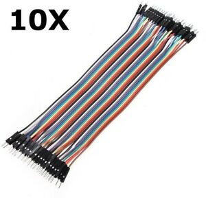 400pcs 20cm Male To Male Color Breadboard Jumper Cable Dupont Wire