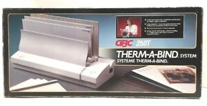 Gbc Therm a bind System Automatic Thermal Binding Binder Model 250t Thermabind