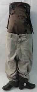 Rare Unusual Antique 1 2 Mannequin Child s Store Display W cast Iron Boots