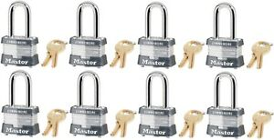 8 Master Lock 3kalf 3210 1 1 2 Laminated Keyed Alike Padlocks W 9 32 Shackle