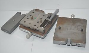Gaertner Scientific Optical Bench Stage Parts Lot Of 3