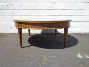 Coffee Table Round Circle Mid Century Traditional Vintage Antique Accent Wood