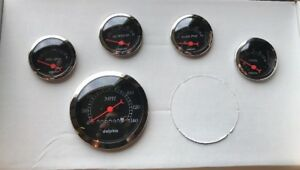 Dolphin 5 Gauge Set Mechanical Speedometer Black