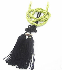 Vip Style Charm Junction Produce Fusa Black Kiku Jp Knot Gold Kin Tsuna Rope