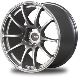18x10 5 Silver Miro Type 563 Wheels 5x4 5 20 Ford Mustang Fits G35