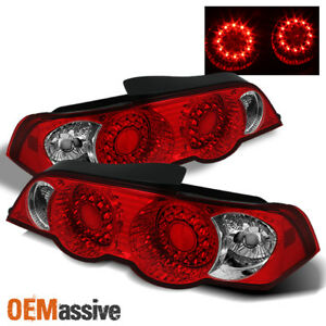 Fits 02 04 Acura Rsx Dc5 Jdm Red Clear Led Tail Brake Lights Lamp Left Right Set