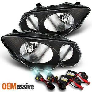 Fits 99 04 Chrysler 300m Black Bezel Replacement Headlights Slim Ballast 8k Hid