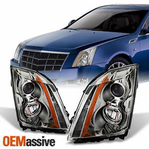 Fits 2008 2014 Cadillac Cts Replacement Halogen Projector Headlights Lh Rh Lamps
