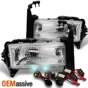 Fit 1997 2004 Dodge Dakota Pickup 1998 2003 Durango Suv Headlights 8000k Hid