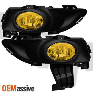 Fits 04 06 Mazda3 Mazda 3 4dr Jdm Yellow Fog Lights Lamps W switch wiring relay