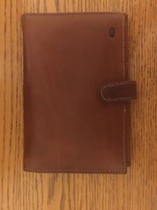 Hartmann Vintage Belting Leather Address Book day Planner Agenda Organizer Brown