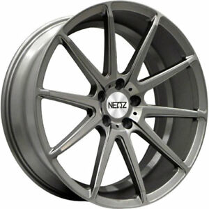 18x8 Gray Neoz 5016 Wheels 5x4 5 40 Fits Pontiac Vibe 5 Lug Only