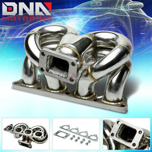 For D Series D15 D16 T3 Performance Ram Horn Turbo Charger Manifold Exhaust Kit