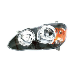 Fits 2005 2007 Toyota Corolla S Xrs Driver Left Side Headlight Lamp Assembly Lh