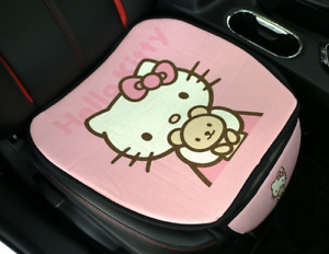 Bowknot Hello Kitty Car Seat Covers Cotton Line Cute Pink Front Seat Cover