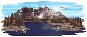 1 Rv Trailer Camper Heartland N Country Mountain Scene Decal Graphic 2028