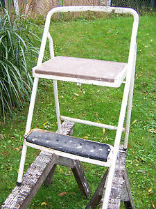 Vintage Lady Seymour Locking Folding Step Stool Chair Cosco Step Stool