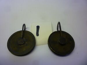 Two 18th Century 8 Day Grandfather Clock Weight Pulleys 1