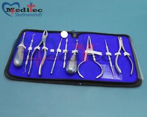 Dental Instruments Set Pliers Elevator Wax Carver Extraction Forceps