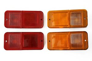 4 68 72 Chevy C10 Truck Standard Amber Red Side Marker Light Lamps Set