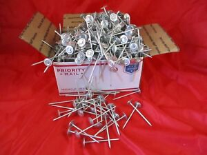 Nails Unlimited 4 Length Steel Round Cap Screw Nail Electro Galvanized 20 Lbs