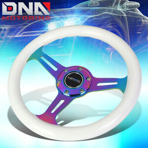 Nrg St 310wt Mc 310mm White Wood Grain Handle Neo Chrome Spoke Steering Wheel