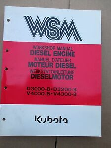 Kubota Diesel 3000 3200 4000 4300 Workshop Manual