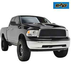 Eag 2009 2012 Dodge Ram 1500 Black Mesh Grille With Chrome Rivet Front Grill