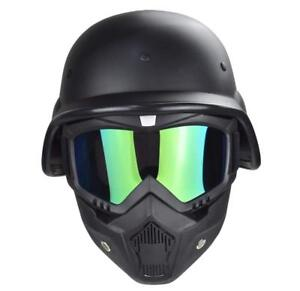 Tactical airsoft M88 helmet with Motorcycle Goggles With Detachable Mask