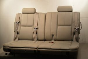 07 13 Tahoe Suburban Yukon Third Row Seats 3rd oem grey leather Nice